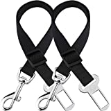 2 Adjustable Car Seat Belts for Dogs & Cats --- Triple The Survival Rate in Accidents - Prevent Stress from Travel in…