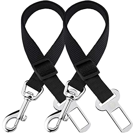 Amazon Com 2 Adjustable Car Seat Belts For Dogs Cats Triple