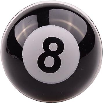 Pomo universal de 8 bolas para billar de coches color negro palanca de cambio de coche
