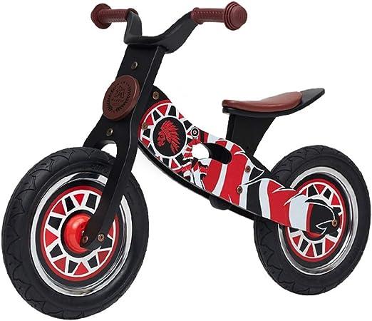 Bicicleta sin pedales Bici Bicicleta de Empuje de Madera niños y niñas, Bicicleta de Entrenamiento para 2/3/4/5/6 años (Color : B): Amazon.es: Hogar