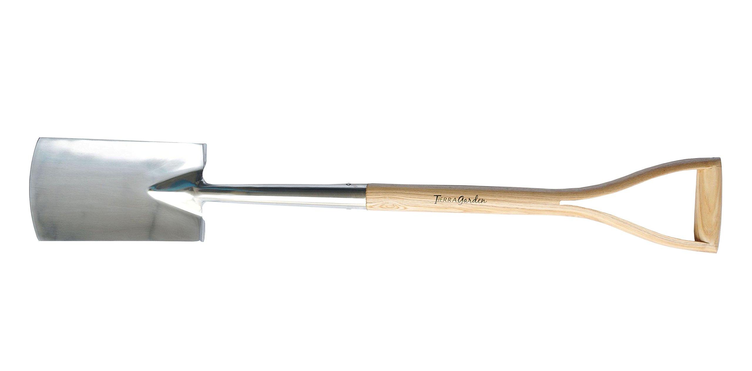 Tierra Garden 35-1810 Stainless Steel Border Spade with Ash Wood Handle