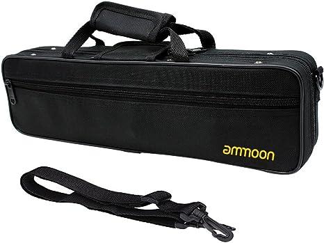ammoon Caso Flauta Funda Caja Mochila Impermeable 600D Espuma de Algodón Acolchado con la Sola Correa de Hombro Ajustable: Amazon.es: Instrumentos musicales
