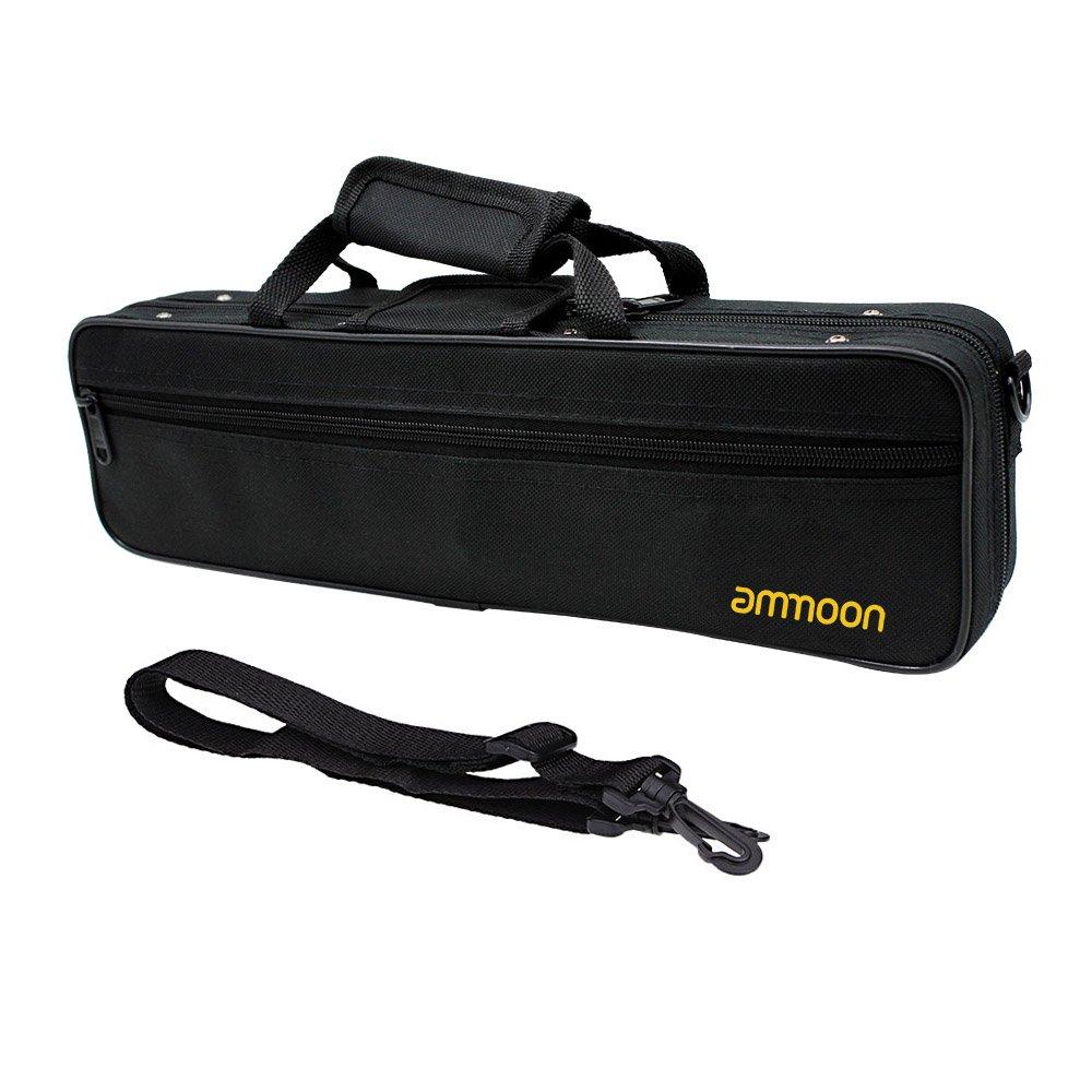 ammoon Water-resistant Gig Bag Box for Western Concert Flute with Adjustable Single Shoulder Strap Pocket Cotton Padded