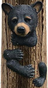 Claratut Bear Sculpture Garden Decor Tree Huggers - Bear Tree Peeker Garden Ornament Outdoor Decor Yard Art