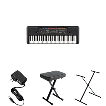 Yamaha Psr E263 Portable Keyboard With Stand Bench And Power Adapter