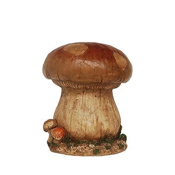 Delightful NORTHLIGHT 13u0026quot; Distressed Brown, Green And Tan Mushroom Stool Outdoor  Garden Patio Statue