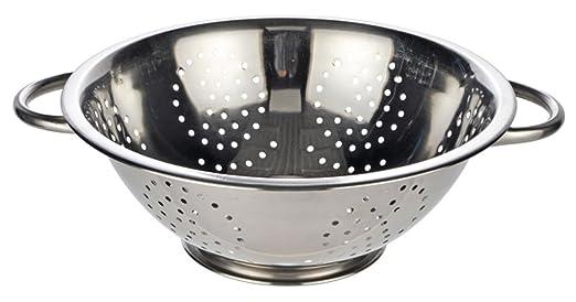 19 opinioni per Land-Haus-Shop H-23041- Scolapasta in acciaio INOX con manici, versione