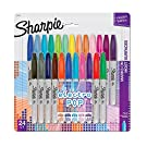 Sharpie Fine Electro Pop Marker, Fine Point, Assorted, 24/Pack (1927350), Package May Vary