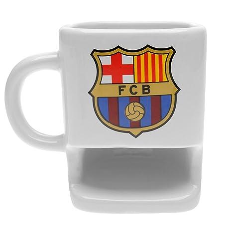 Taza de galletas con diseño del club de fútbol del Barcelona FC, ideal como regalo