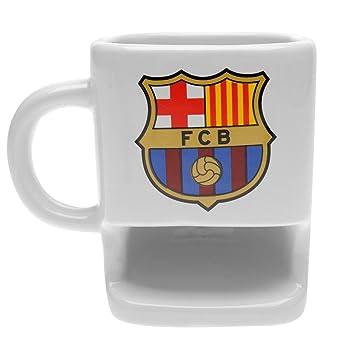 Taza de galletas con diseño del club de fútbol del Barcelona FC, ideal como regalo para los fans: Amazon.es: Hogar