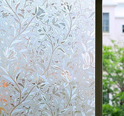 Bloss Window Film Decorative Window Films Window Clings Window Shades  Window Decals Window Tint Privacy Windows Film, 10.10 by 108.10 inches