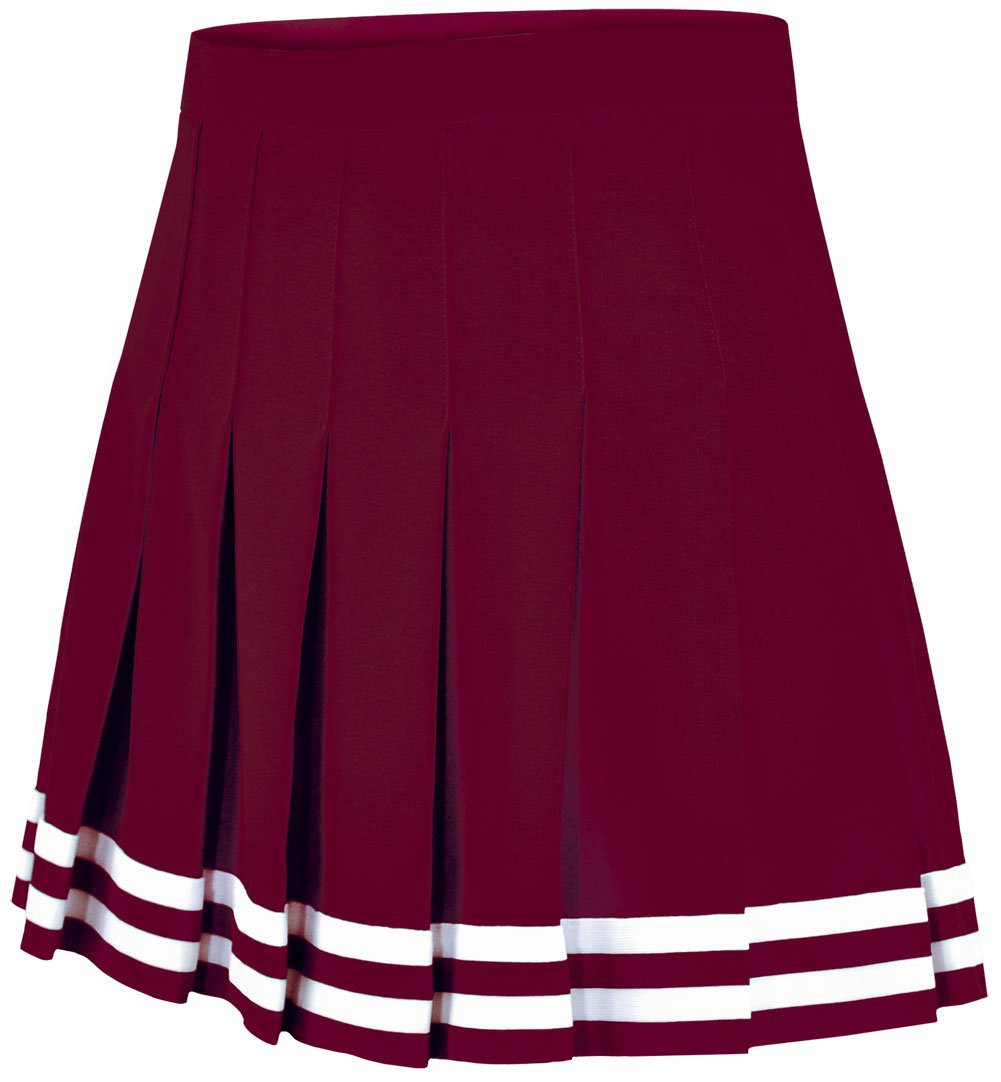 Double Knit Knife Pleat Skirt Maroon Medium