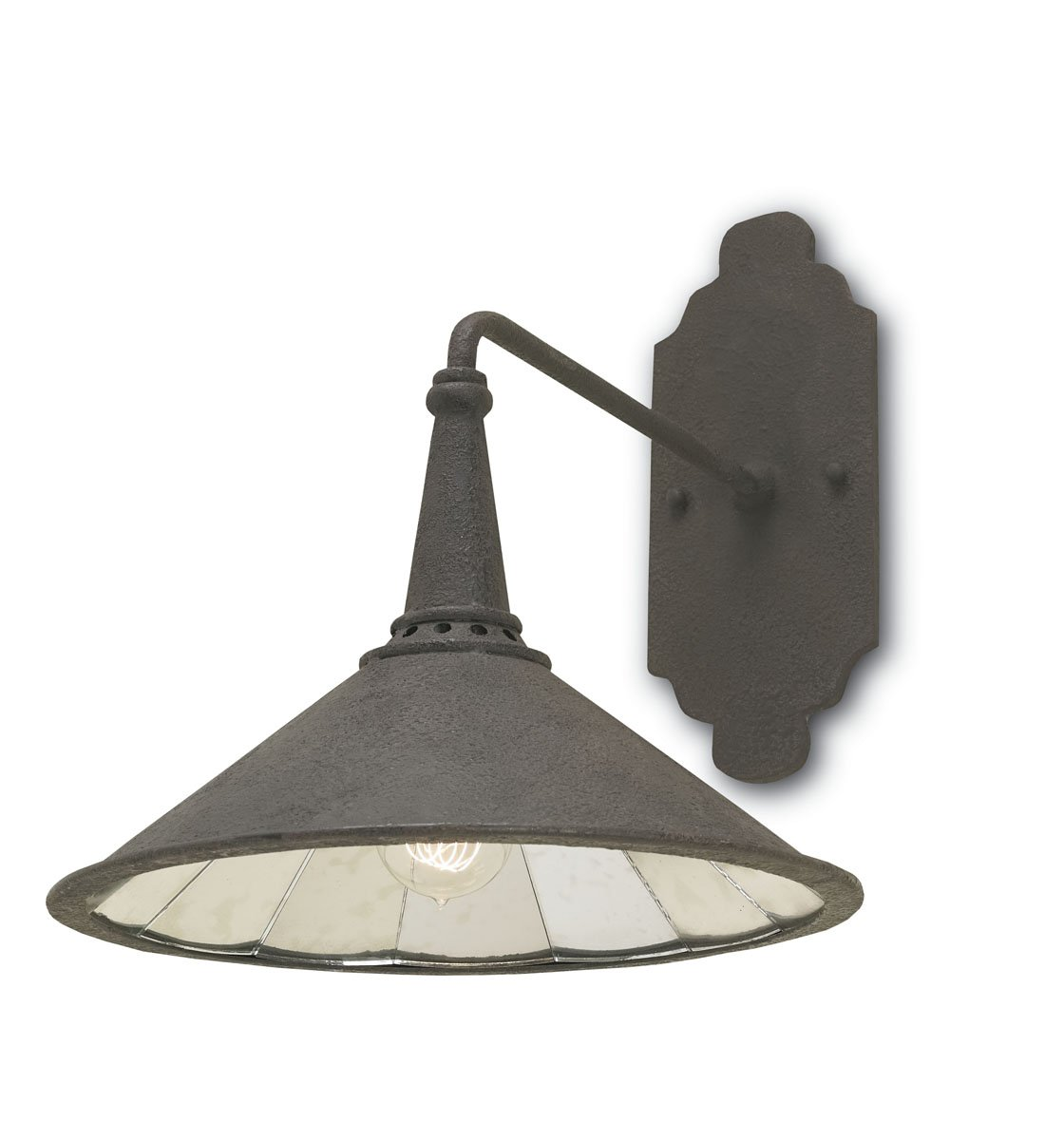 Currey and Company 5151 Manuscript - One Light Wall Sconce Mole Black/Antique Mirror Finish - - Amazon.com  sc 1 st  Amazon.com : currey and company sconces - www.canuckmediamonitor.org