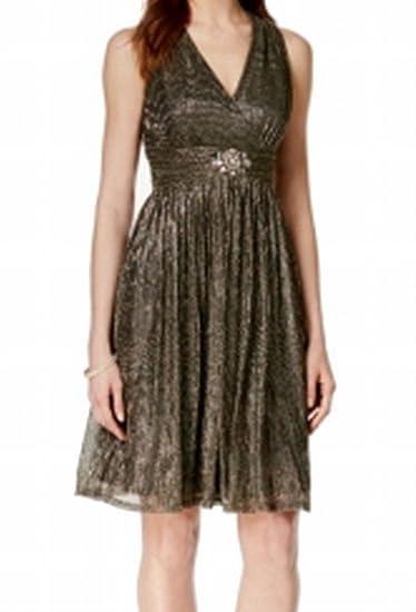 7bb136faebb7 Jessica Howard Womens Metallic Beaded Cocktail Dress Black 6 at Amazon Women's  Clothing store: