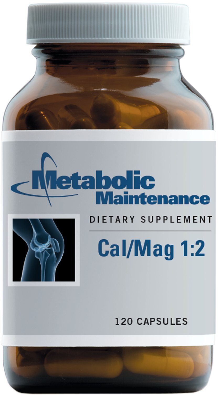 Metabolic Maintenance - Cal/Mag 1:2 - Extra Magnesium for Bone + Heart Support, 120 Capsules