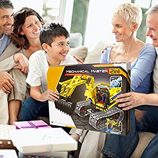 Gili Excavator Building Sets for 7, 8, 9, 10 Year Old Boys & Girls, Construction Engineering Robot Toys for Kids Age 6-12, Educational STEM Birthday Gifts for Kids(342pcs)
