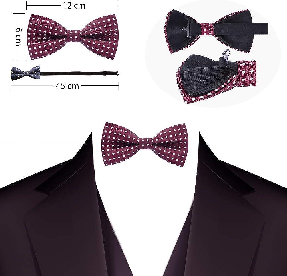 Corbatas de lazo pre-atadas clásicas para hombres Corbata de lazo ...