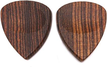 Ruda - 2 palas de madera para guitarra acústica o bajo, color ...