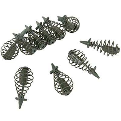 1xFeeder Bait Spring Cage for Carp Fishing Rigs Lead Bottom Rigs Fishings Tac/_UK