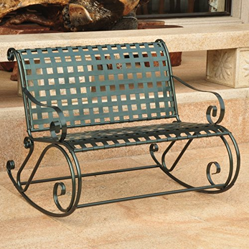 Double Patio Rocker in Verdigris (Outdoor Double Rocker)