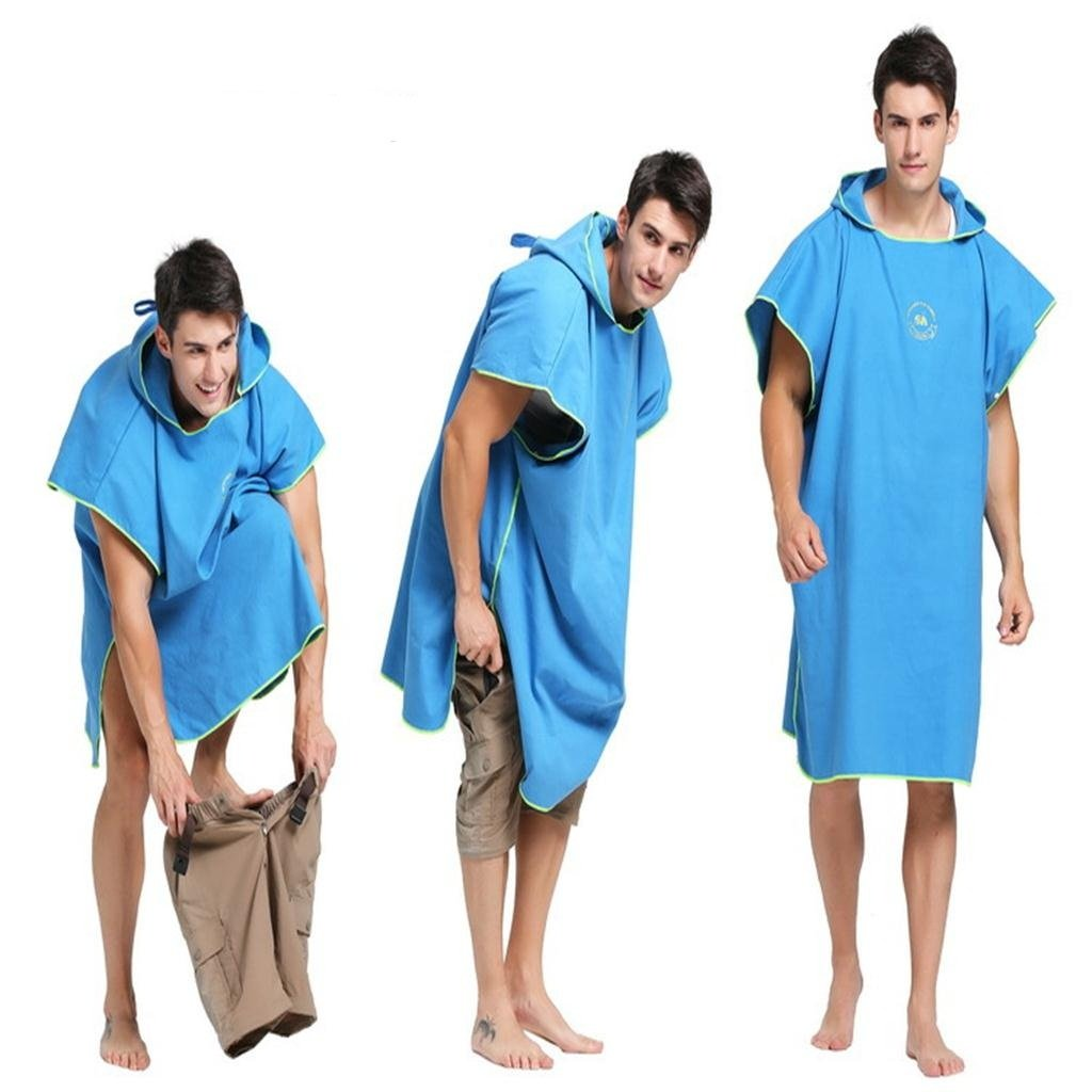 Change Mat changing at the Pool//Beach perfk Universal Surf Wetsuit Changing Towel Poncho Robe
