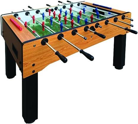 Fútbol Futbolín, Futbolín, fútbol de mesa, ajustable de altura x 139 x 75 x 89, barras trabillas, pianale (Cristal, marcador, bolas incluidas, Futbolín, fútbol Futbolín Indoor.: Amazon.es: Deportes y aire libre
