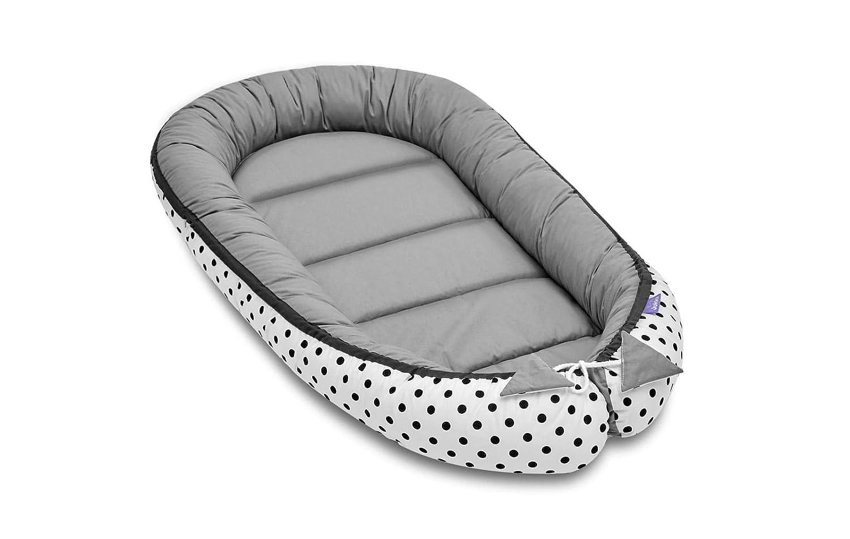 Baby Nest XXL 120x65 cm Newborn Cocoon Snuggle Bed Cushion Dots