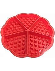 STONCEL 4-Cavity DIY Mini Waffles Cake Pan de Chocolate Bandeja de Silicona Molde Para