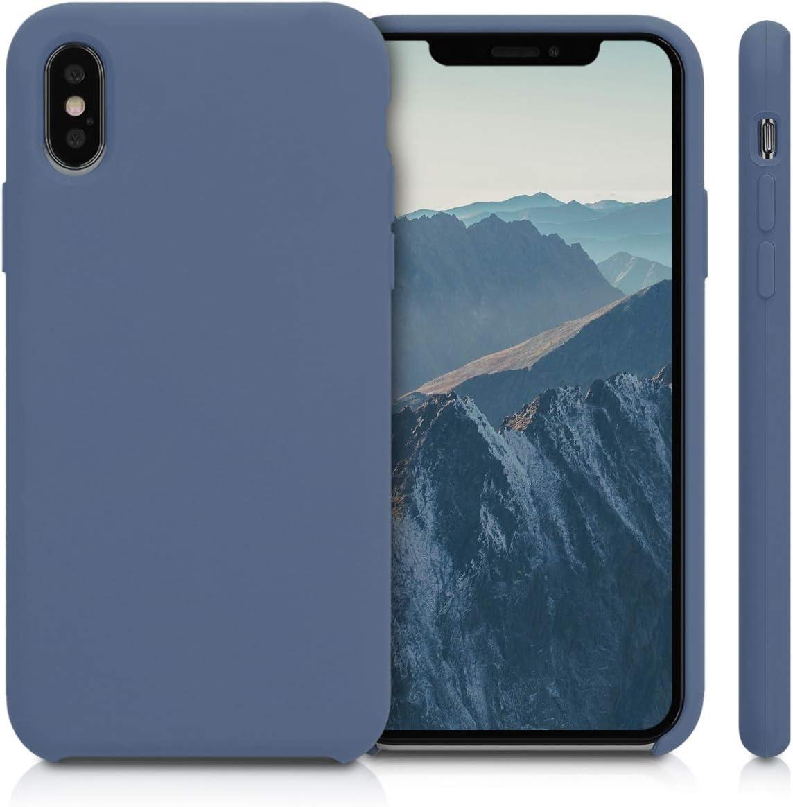 Cover Trasero en Azul viol/áceo kwmobile Funda Compatible con Apple iPhone XS Carcasa de TPU para m/óvil