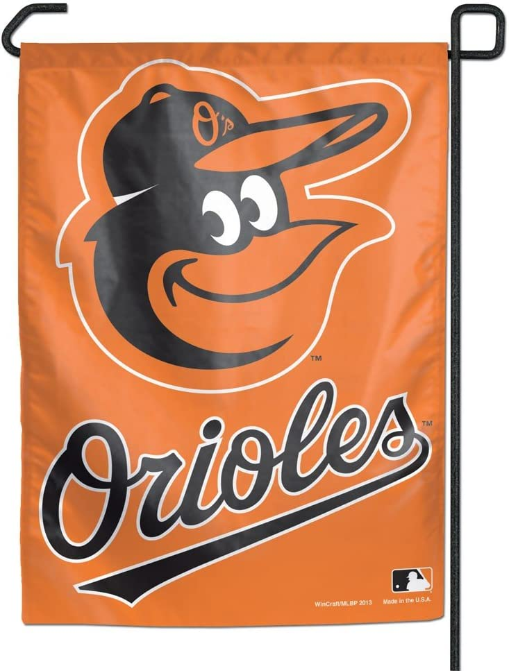 """WinCraft MLB Baltimore Orioles WCR28061013 Garden Flag, 11"""" x 15"""""""