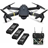 Drone with Wide Angle Camera, EACHINE E58 WIFI FPV Quadcopter With 720P 2MP HD Camera Altitude Hold Mode Foldable APP Control Pocket Drone RTF(3Pcs Batteries)