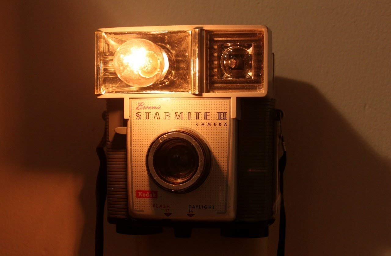 Old-fashioned Camera Nightlight - Kodak Brownie Starmite II/III
