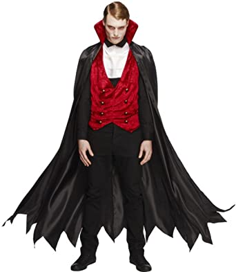 2ab3e4d7e4e Mens Adult Sexy Fever Vampire Costume Outfit Male Fancy Dress Black ...