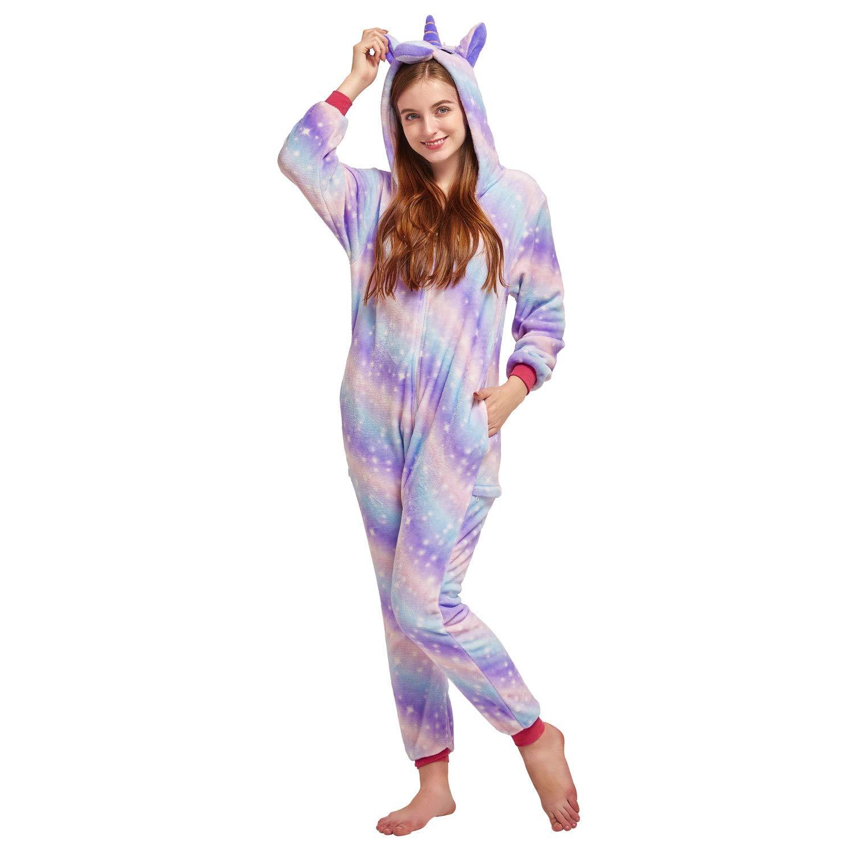 Nousion Cosplay Christmas Unicorn Sleepwear Onesies Outfit Licorne Unisex Adult Pajamas