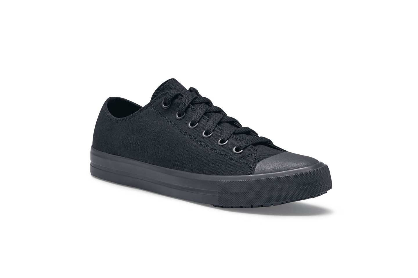 Shoes for Crews 39428-38/5 DELRAY Lä ssige Canvas-Schuhe fü r Damen, Rutschhemmende, Grö ß e 5 UK, Schwarz