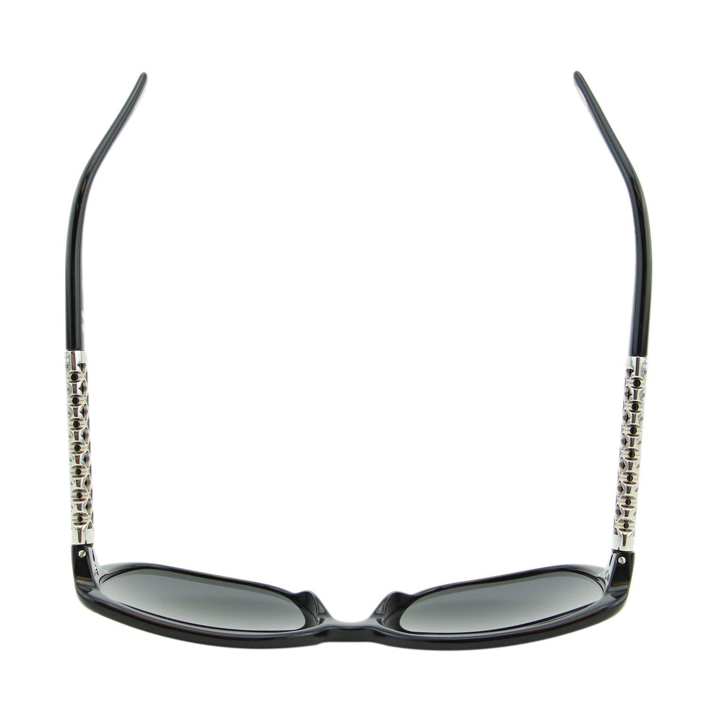 Chopard Imperiale SCH-184 700 Women Black Silver Metal Detail Square Sunglasses by Chopard (Image #8)