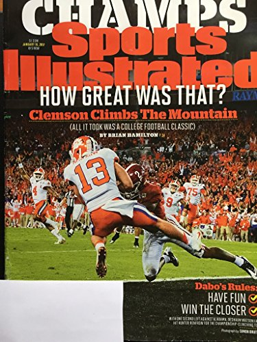 sports-illustrated-magazine-january-16-2017-champs-clemson-climbs-the-mountain