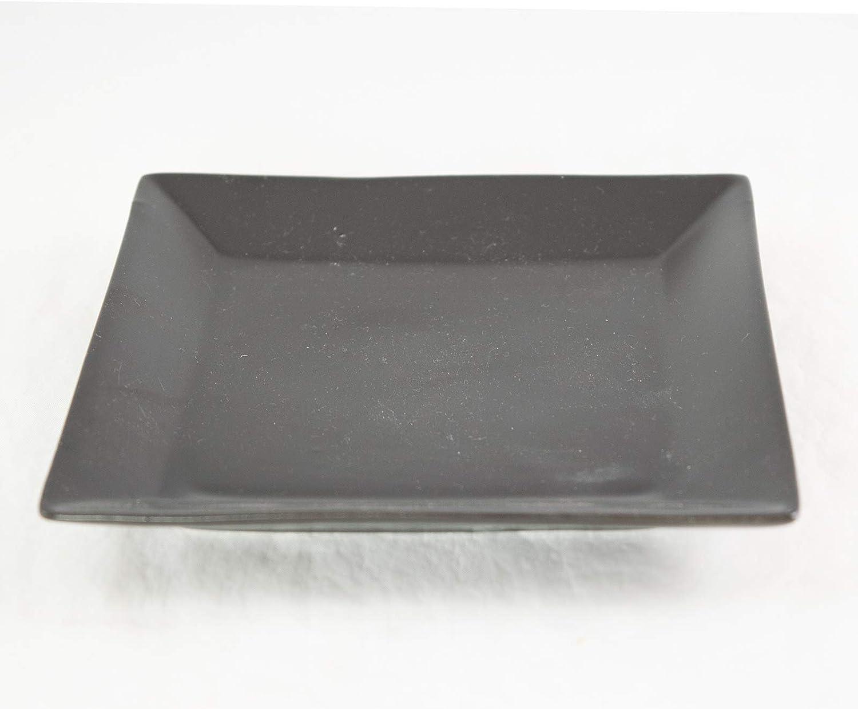 Amazon Com Square Ceramic Humidity Drip Tray For Bonsai Tree 5 25 X 5 25 X 0 75 Black Kitchen Dining