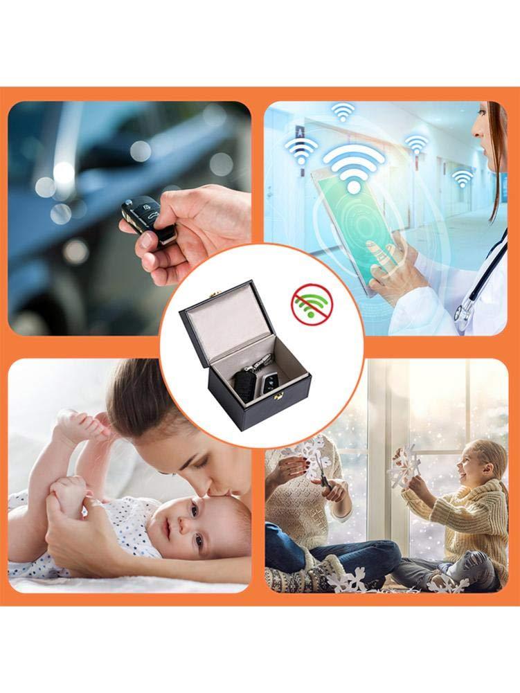 Blocage Du Signal RFID Porte-cl/és Faraday RFID Cas Anti-vol Protecteur De S/écurit/é De Bloqueur De Signal De Voiture Grande Bo/îte De Rangement Sans Cl/é Emp/êcher Que Votre Porte-cl/és Soit Num/éris/é