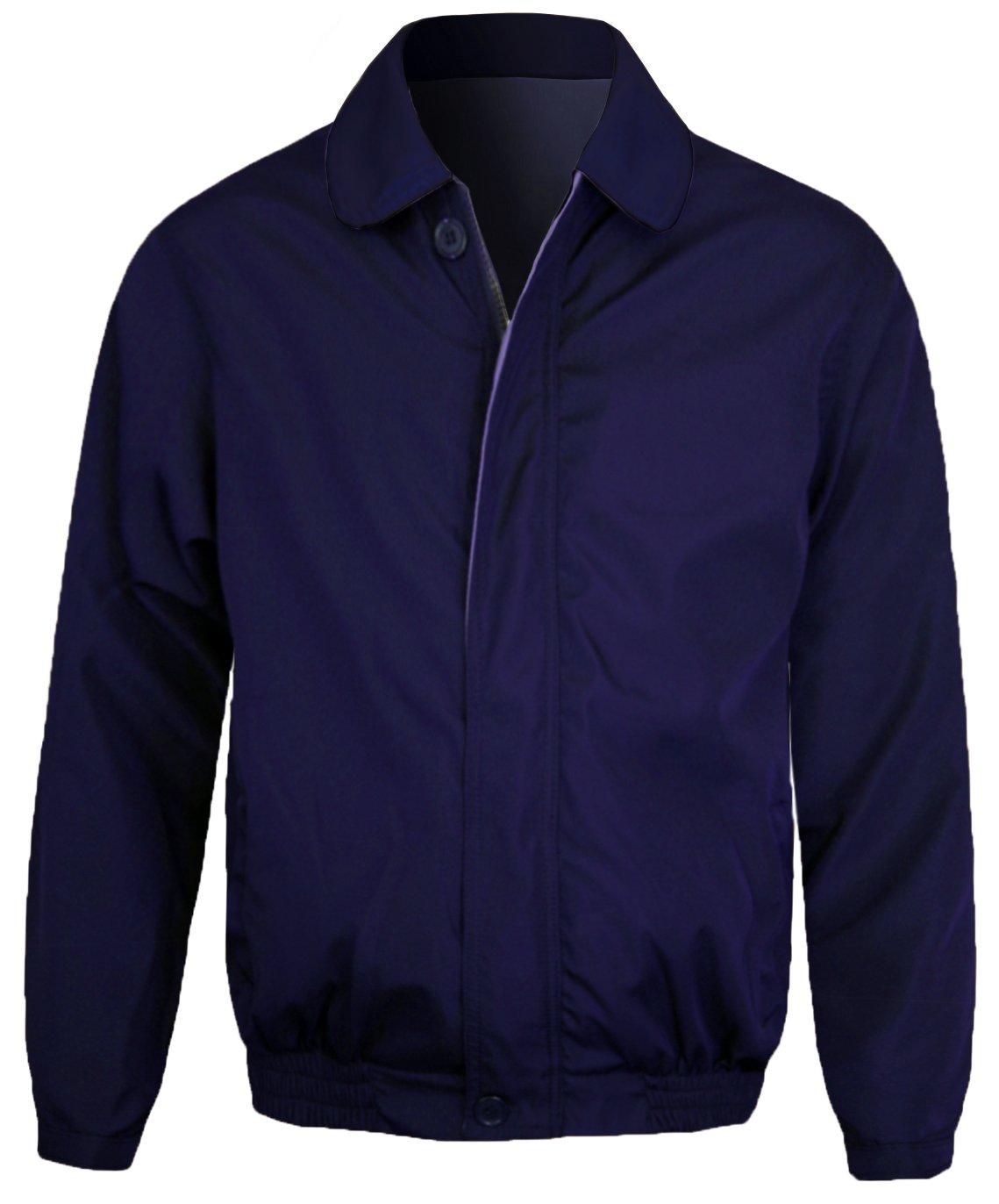 Guytalk Men's Wind and Water Resistant Windbreaker Zipper Closure Golf Jacket 3XL Navy
