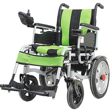 Silla ruedas eléctrica para ancianos, luz plegable para ...