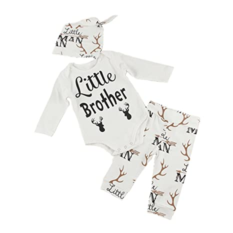 Puseky - Set de ropa para recién nacido «Little Brother» con