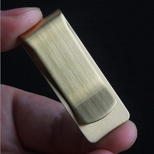 Lordpoll Pince /à Billets en Laiton /épais en cuivre Porte-Monnaie Classique /à Pince /à Billets Business Paper Clips /Épaisseur des Porte-Monnaie EDC