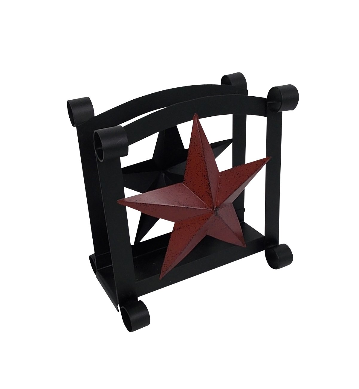 Craft Outlet Star Tissue Holder, Black, 6.5 x 6.5-Inch Craft Outlet Inc T1299