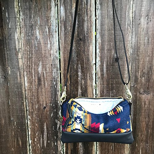 Willamette Crossbody in Pendleton® wool and full grain leather by Meant Manufacturing