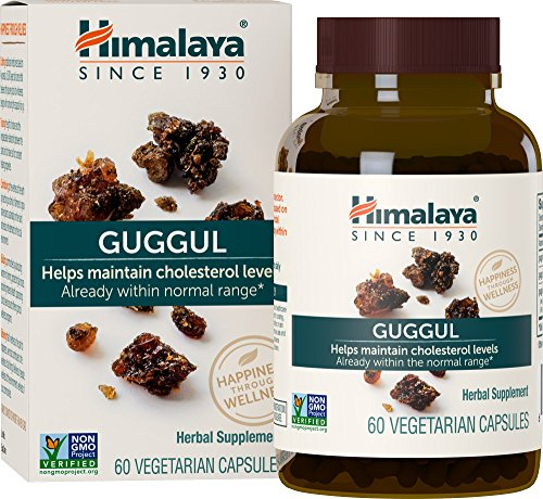 Himalaya Guggul 60 Vcaps for Cholestrol Support, 750 mg