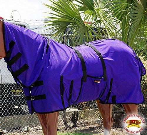 HILASON 75' UV Protect MESH Bug Mosquito Horse Fly Sheet Summer Spring Purple