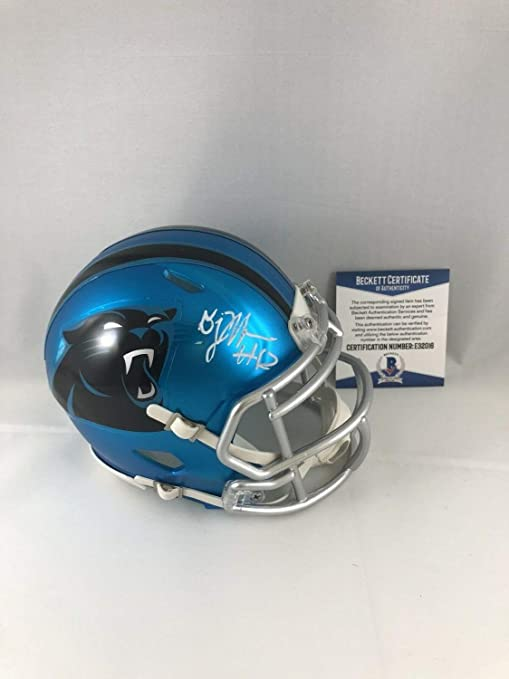 brand new b2d62 f8ce6 Dj Moore Autographed Signed Carolina Panthers Mini Helmet Signature -  Beckett Authentic