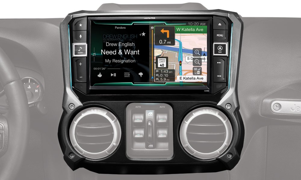 Alpine Electronics X209-WRA 9'' Restyle Navigation System with Apple CarPlay & Android Auto for Jeep Wranglers (2011-2017)