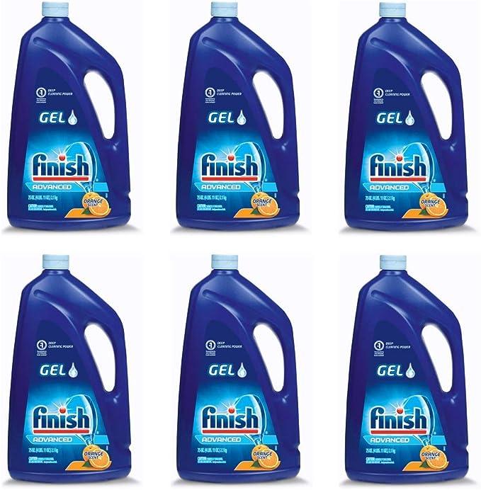 Finish Gel detergente automático para lavaplatos, aroma a ...
